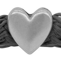Grip-It Slider Herz, für Bänder bis 5mm Durchmesser, versilbert