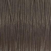 Gewachstes Baumwollband, grau, Durchmesser 1 mm, Länge 74 m