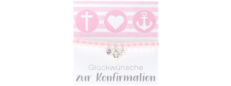 Armband zur Konfirmation Glaube, Liebe, Hoffnung