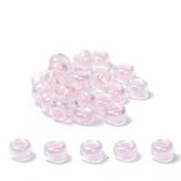Miyuki Rocailles rund 8/0 (ca. 3 mm), Pink-Lined Crystal AB, ca. 22 gr