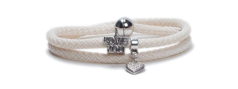 Armband mit Segelseil Elfenbein