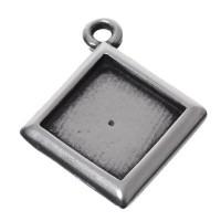 Fassung für Swarovski Elements Flatback Stones/Cabochons 12 mm, eine Öse, versilbert