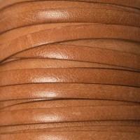 Breites Lederband, 5 mm x 1 mm, Länge 1 m, natur