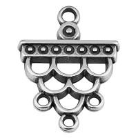 Metallanhänger Ethno, Triangel,  16 x 18 mm, versilbert