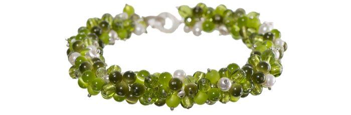 Hunderte-Perlen-Kette grün