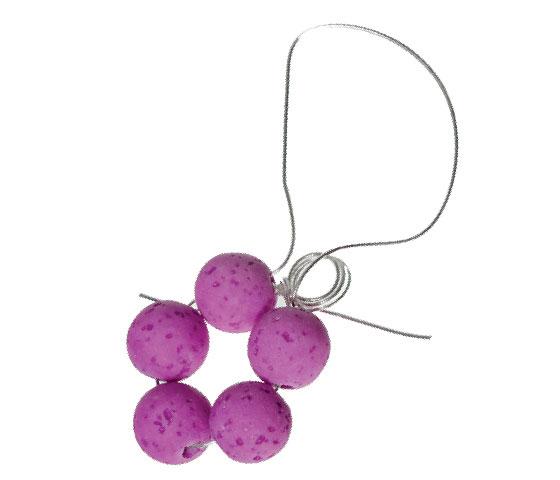 Blumenanhänger aus Polaris Gala Sweet Perlen mit Modellierdraht biegen Schritt 6