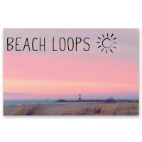 "Schmuckkarte ""Beach Loop - Himmel und Leuchtturm"", quer, Größe 8,5 x 5,5 cm"