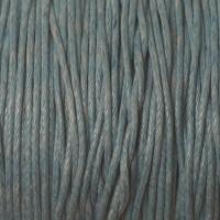 Gewachstes Baumwollband, stahlblau, Durchmesser 1 mm, Länge 74 m