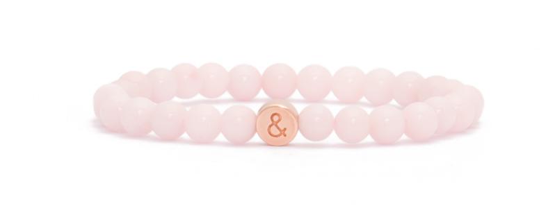 Armband mit rosevergoldeten Buchstabenperlen &
