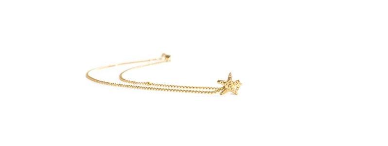 Feine goldene Halsketten Seestern