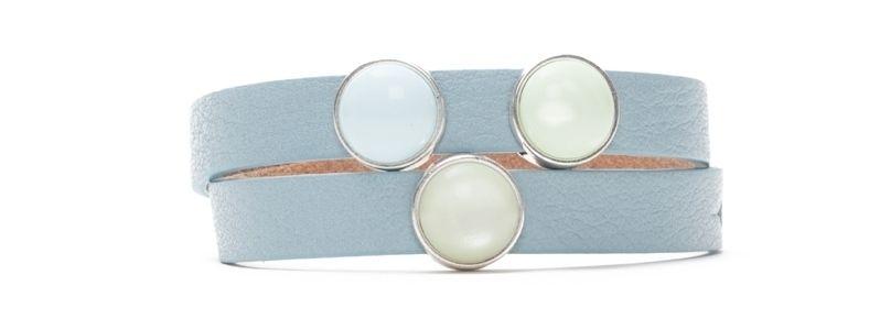 Armband Blue Bell mit Slidern und Polariscabochons doppelt