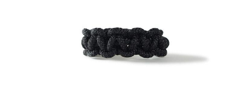 Knotenarmband Schwarz