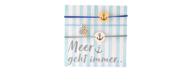 "Set Armbänder mit Coins ""Meer geht immer"""