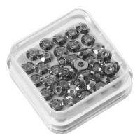 40 Metallspacer Scheibe, 4 x 1,3 mm, silberfarben