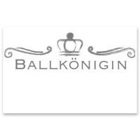 """Schmuckkarte """"Ballkönigin"""", weiß, Größe 8,5 x 5,5 cm"""