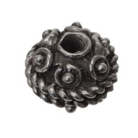 Metallperle Kugel, 10 mm, versilbert