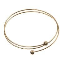Wechselarmband mit zwei Windungen, vergoldet