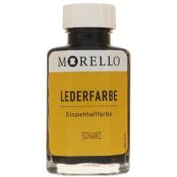 Morello Lederfarbe, Flasche mit Auftragepinsel, 40 ml,  Schwarz