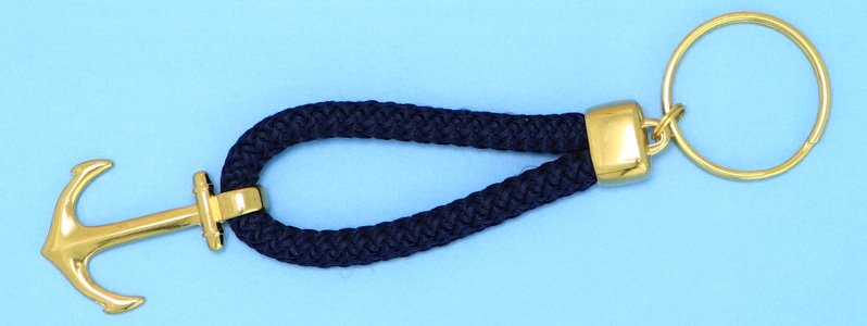 DIY Maritimer Schlüsselanhänger mit Tau und Anker vergoldet