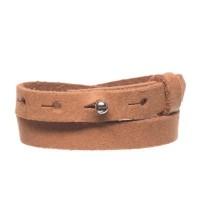 Craft Lederarmband für Sliderperlen, Breite 10 mm, Länge 39 - 40 cm, camel