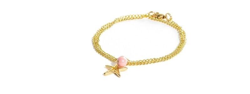 Feine goldene Armbänder Stern