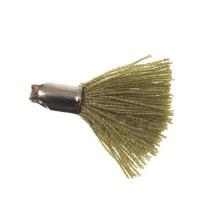 Quaste/Troddel, 18 mm, Baumwollgarn mit Endkappe (silberfarben), oliv