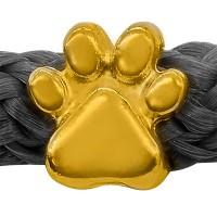Grip-It Slider Pfote, für Bänder bis 5mm Durchmesser, vergoldet