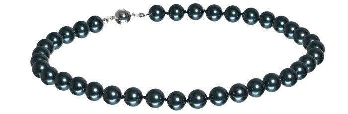 Geknotete Kette mit Swarovski Crystal Pearls