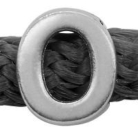 Grip-It Slider Buchstabe O, für Bänder bis 5mm Durchmesser, versilbert
