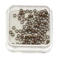 100 Quetschperlen, rund, 2,0 mm, antik kupferfarben