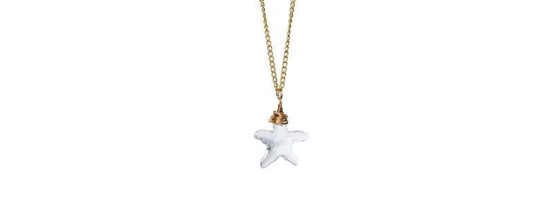 Feine Kette Swarovski Elements Anhhänger Starfish