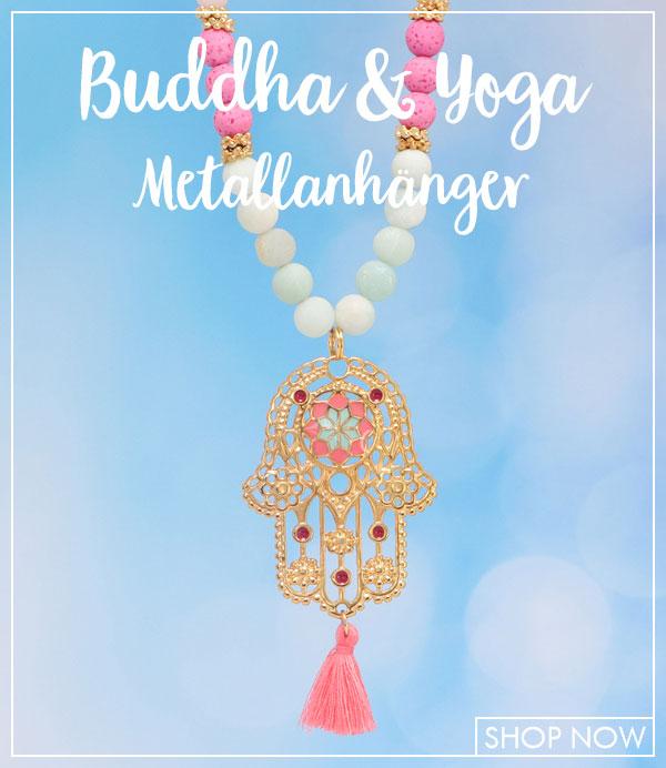 Buddha und Yoga Metallanhänger