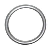 Metallanhänger Ring, ca. 48 mm, versilbert