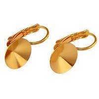 Paar Ohrhänger mit Brisur und Klebefassung für Rivoli SS47, vergoldet