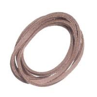 Velourlederband, 2 x 2,8 mm, Länge ca. 1 m, beige