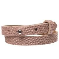 Milano Glam Lederarmband für Sliderperlen, Breite 10 mm, Länge 39 - 40 cm, primrose pink mit metalli