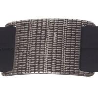 Metallperle Doppel-Slider / Schiebeperle Viereck, versilbert, ca.  40 x 25 mm