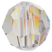 Swarovski Elements, rund, 8 mm, crystal AB