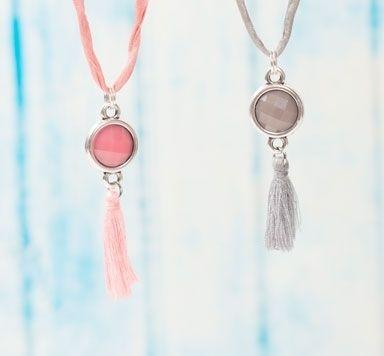 Gypsy Seidenketten mit Resincabochons