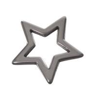Metallanhänger Stern, 18 x 19 mm, versilbert