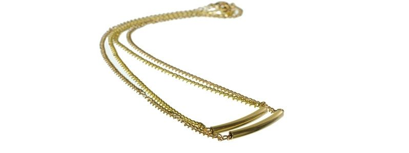 Goldene Dopplelkette Gold