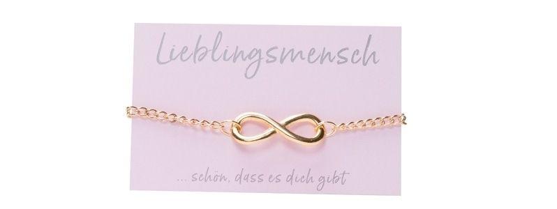 Glücks-Armband mit Infinity-Zeichen Vergoldet