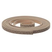 Synthetikband, flach, Breite 5 mm, Länge ca. 1 m, Schlangenprint beige