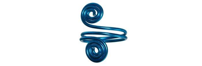 Schnecken-Ring Blau