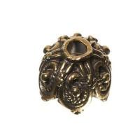 Metallperle Perlkappe, ca. 14 mm, bronzefarben