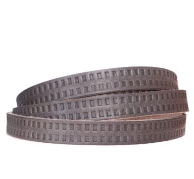 Breites Lederband mit Motiv 10 und 15 mm