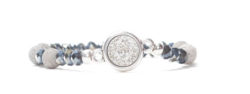 Armband mit Facettperlen und Polaris Goldstein Cabochon III