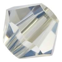 Preciosa Rondelle Bead/Bicone, 4 mm, crystal lagoon