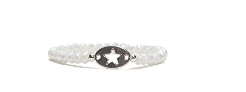 Armband mit Glasfacettrondellen Star