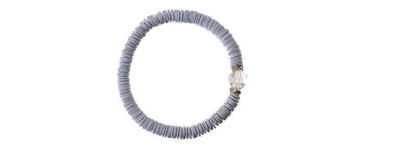 Pailletten Armband Weiß